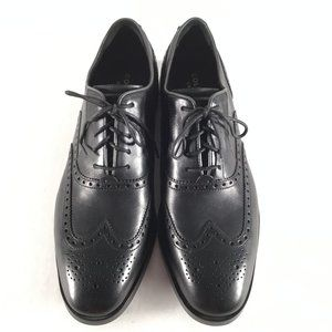 Cole Haan Grand OS Black Pebbled Leather Lace-Up
